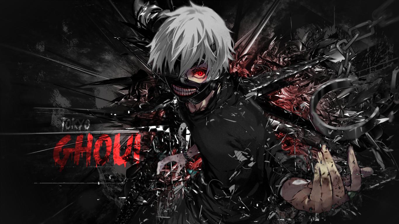 Wallpaper Tokyo Ghoul Kaneki Ken Anime 1366x768 Radlet