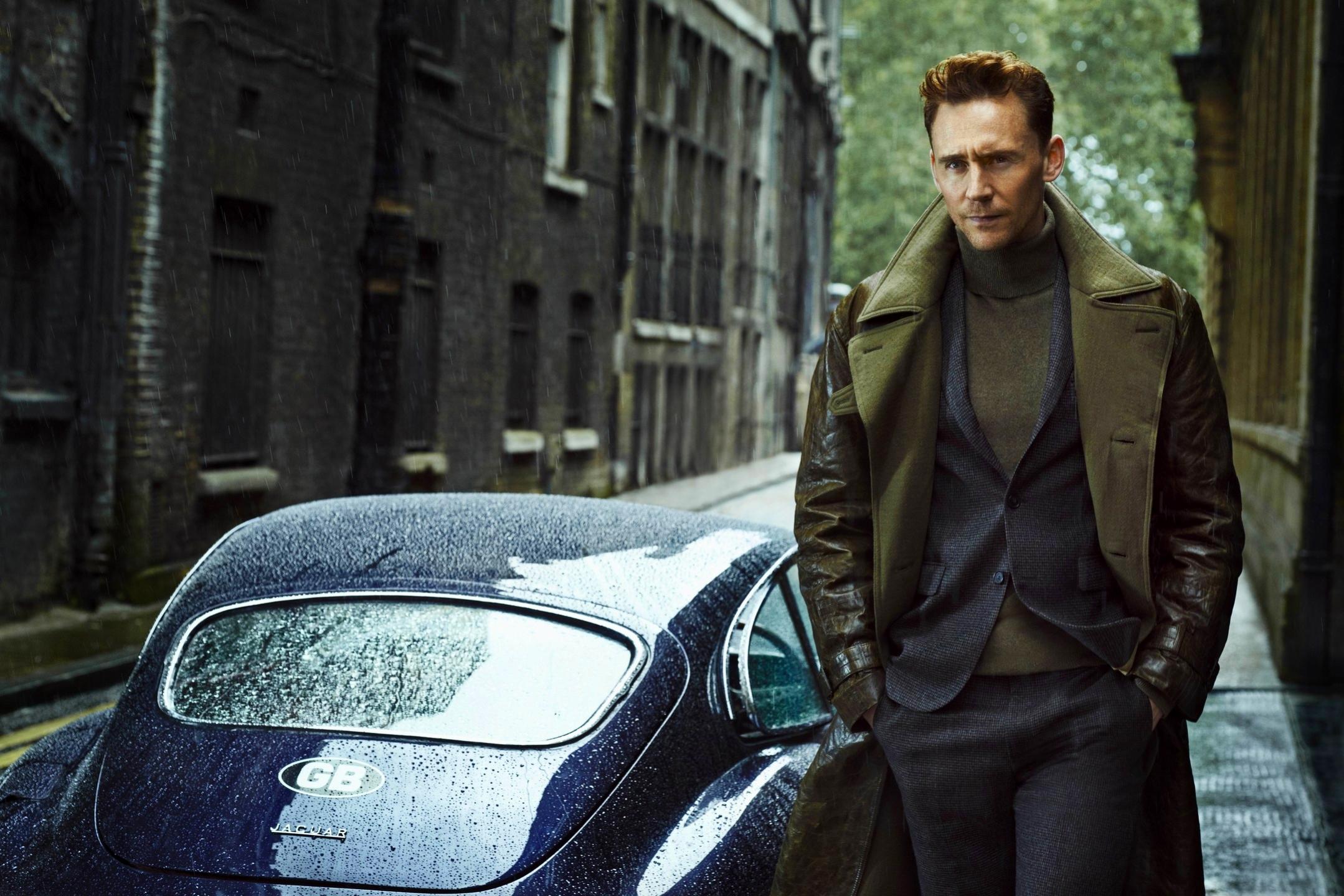 Tom Hiddleston Jaguar Car Man Style