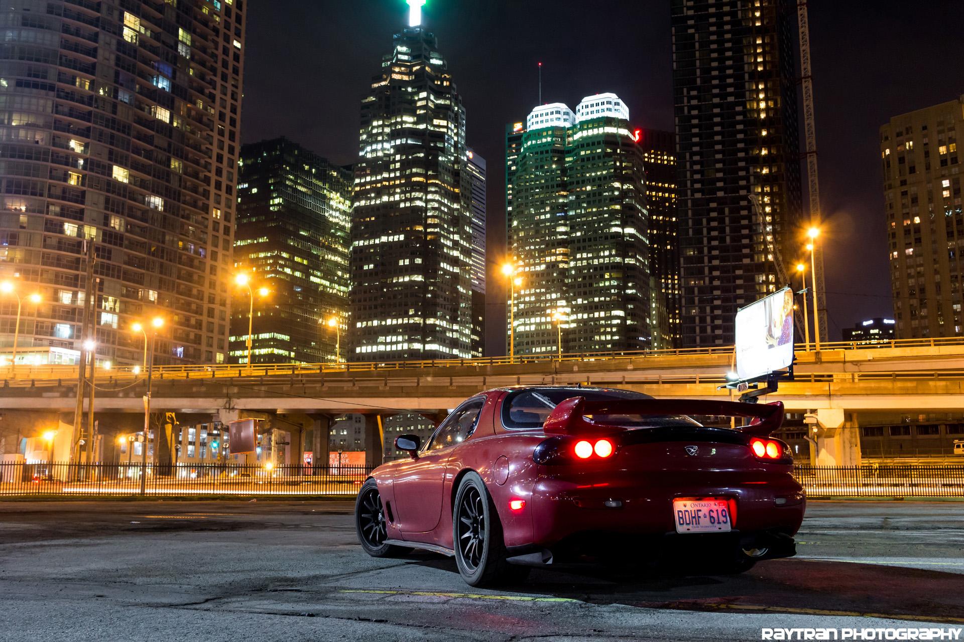 Wallpaper Toronto Downtown Mazda Rx7 Rotary Fd3s