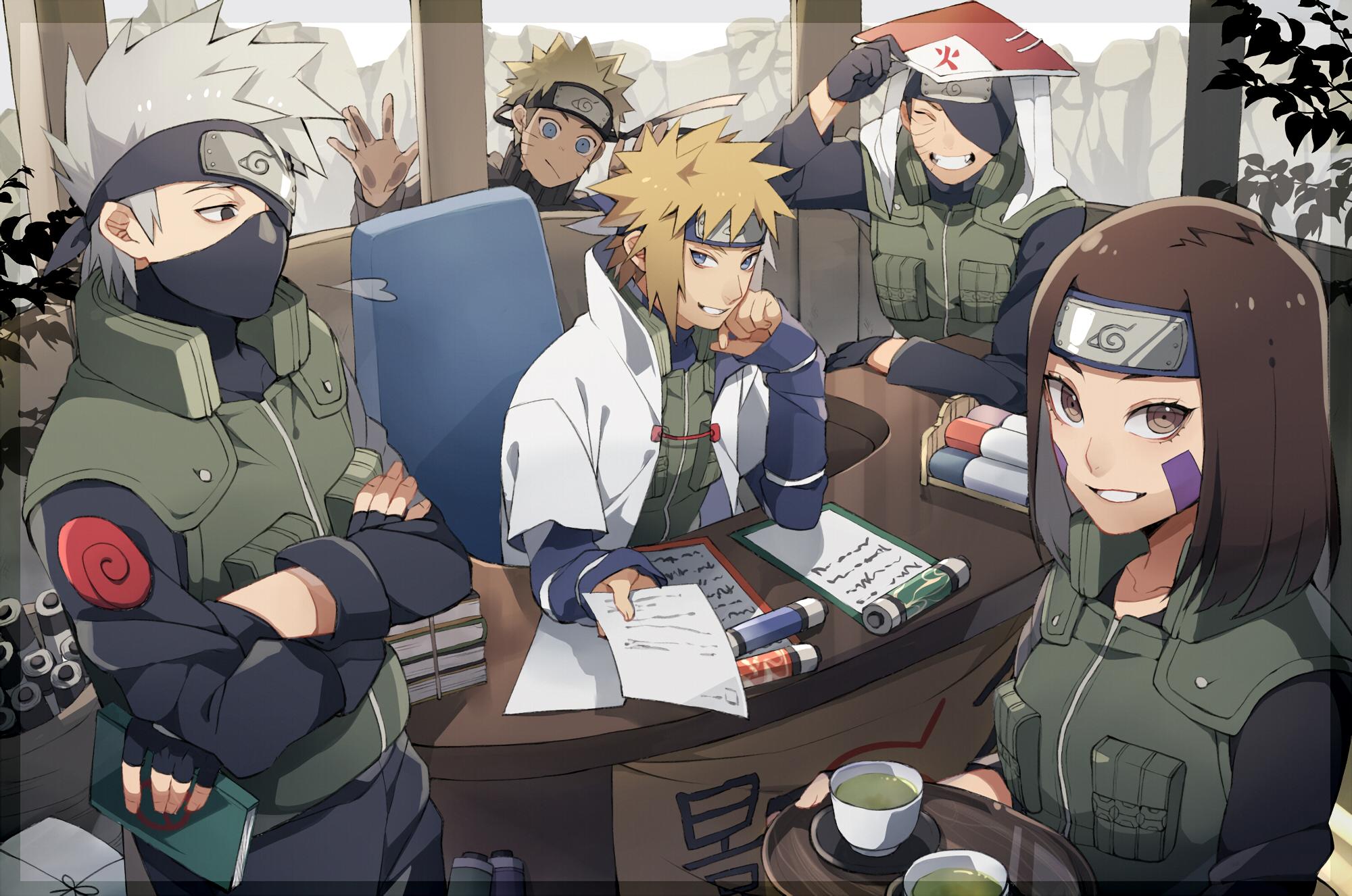 Naruto Uzumaki Hatake Kakashi Namikaze Minato Uchiha Obito Nohara Rin