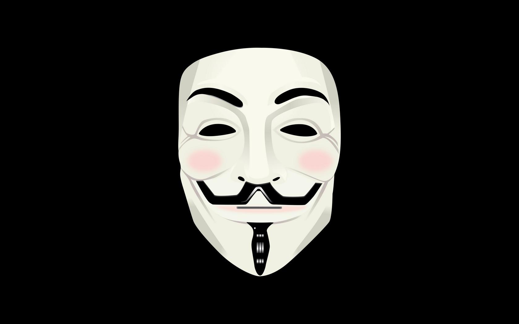 Wallpaper V For Vendetta Guy Fawkes Mask 1680x1050
