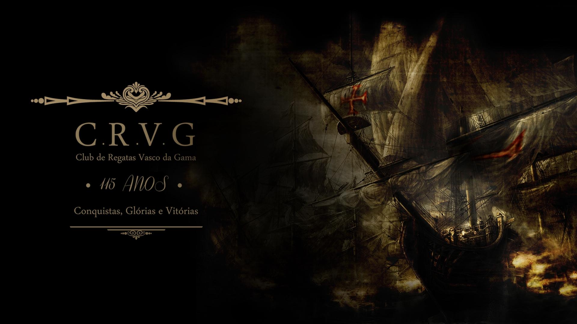Wallpaper Vasco Da Gama Black Soccer Clubs Vessel Cross