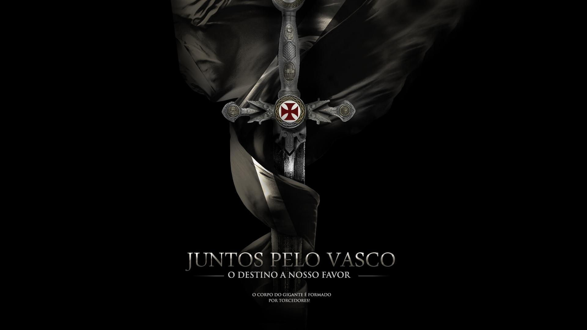 Wallpaper Vasco Da Gama Black Sports Soccer Clubs Cross
