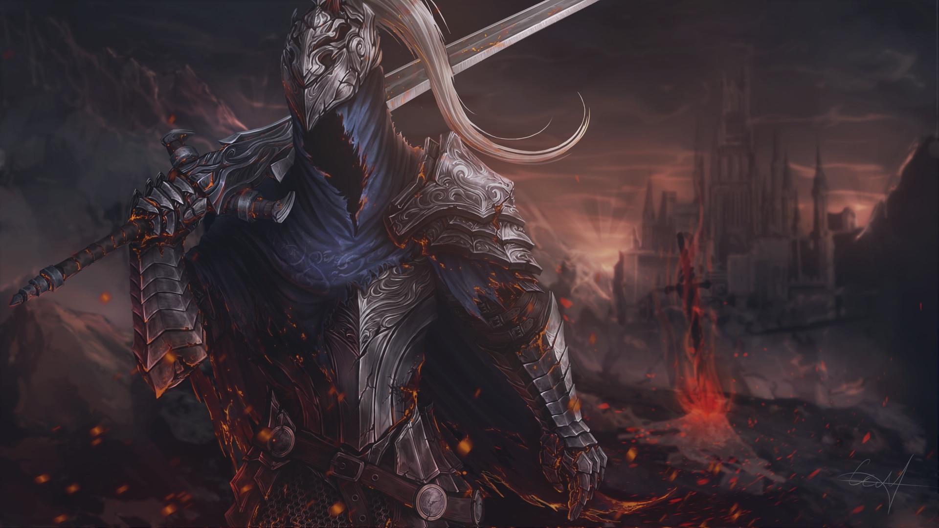 Wallpaper Video Game Art Dark Souls Fan Art Video Games Dark