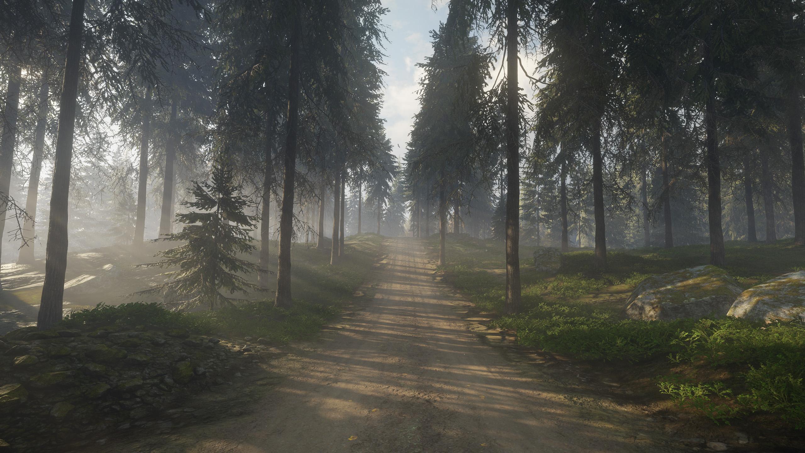 Wallpaper Video Game Art Nature Trees Grass Dirt Road Screen Shot 2560x1440 Toomy115 1905751 Hd Wallpapers Wallhere