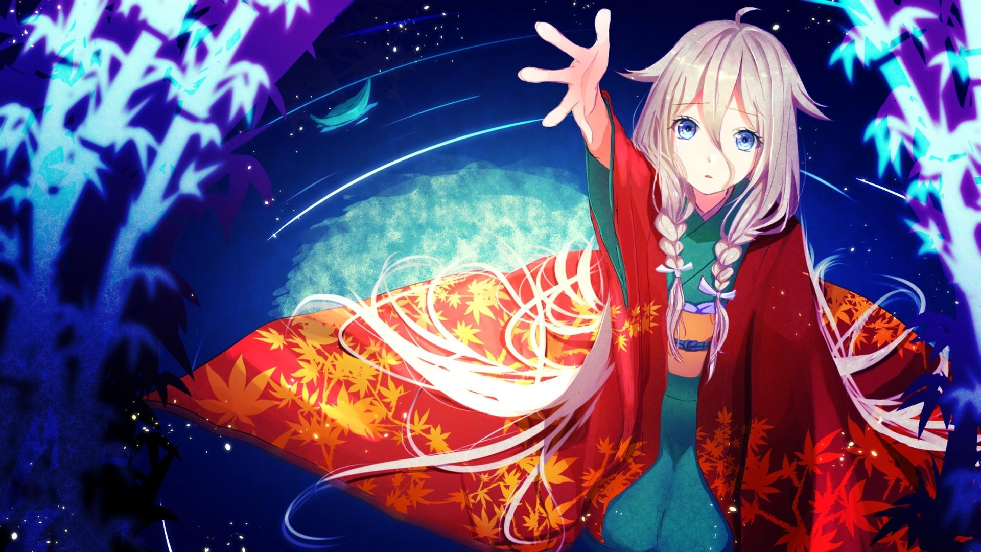 Vocaloid ia kimono pigtails
