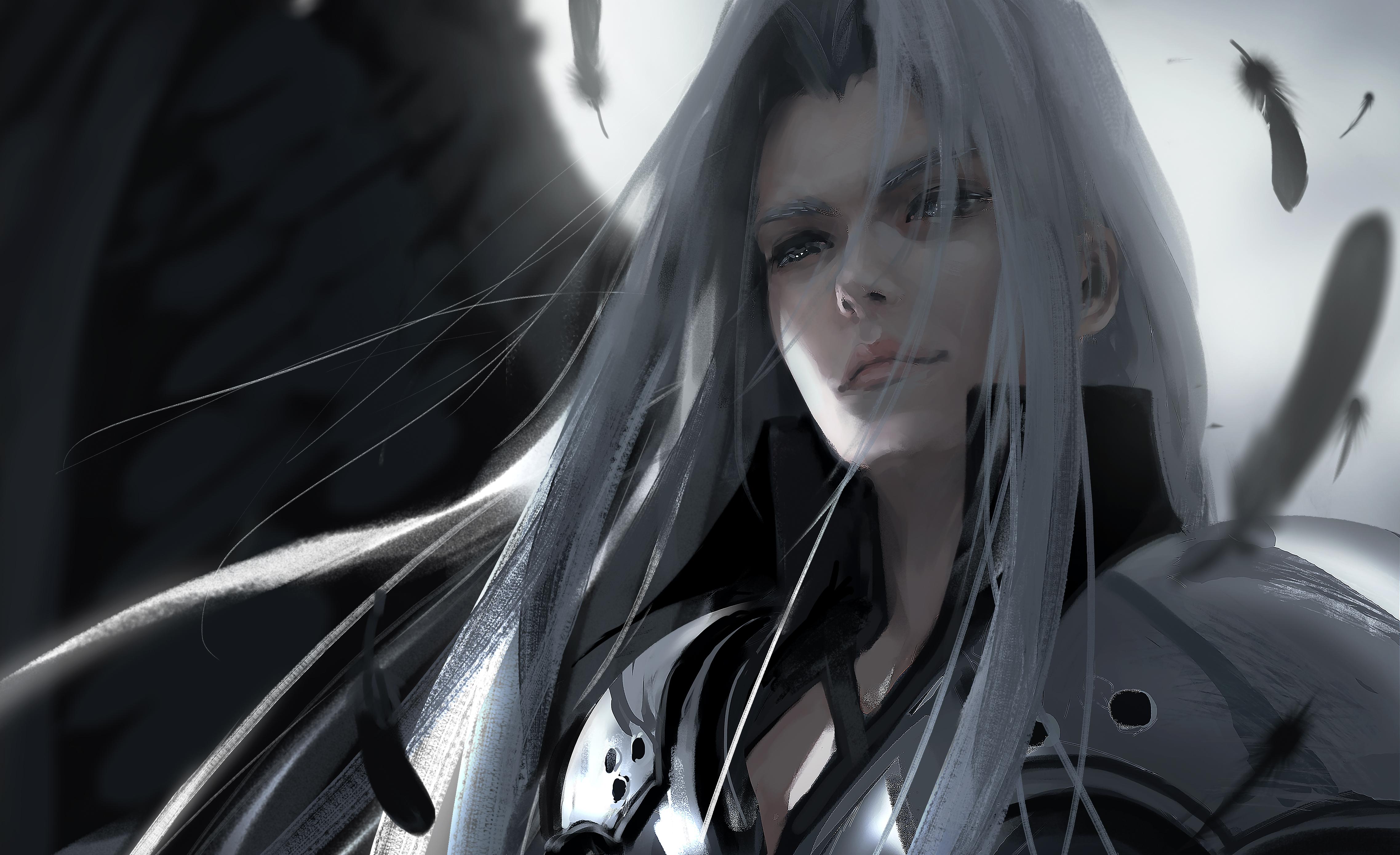 Wallpaper Wlop Final Fantasy Vii Sephiroth 4551x2779 C0mmanderino 1817361 Hd Wallpapers Wallhere