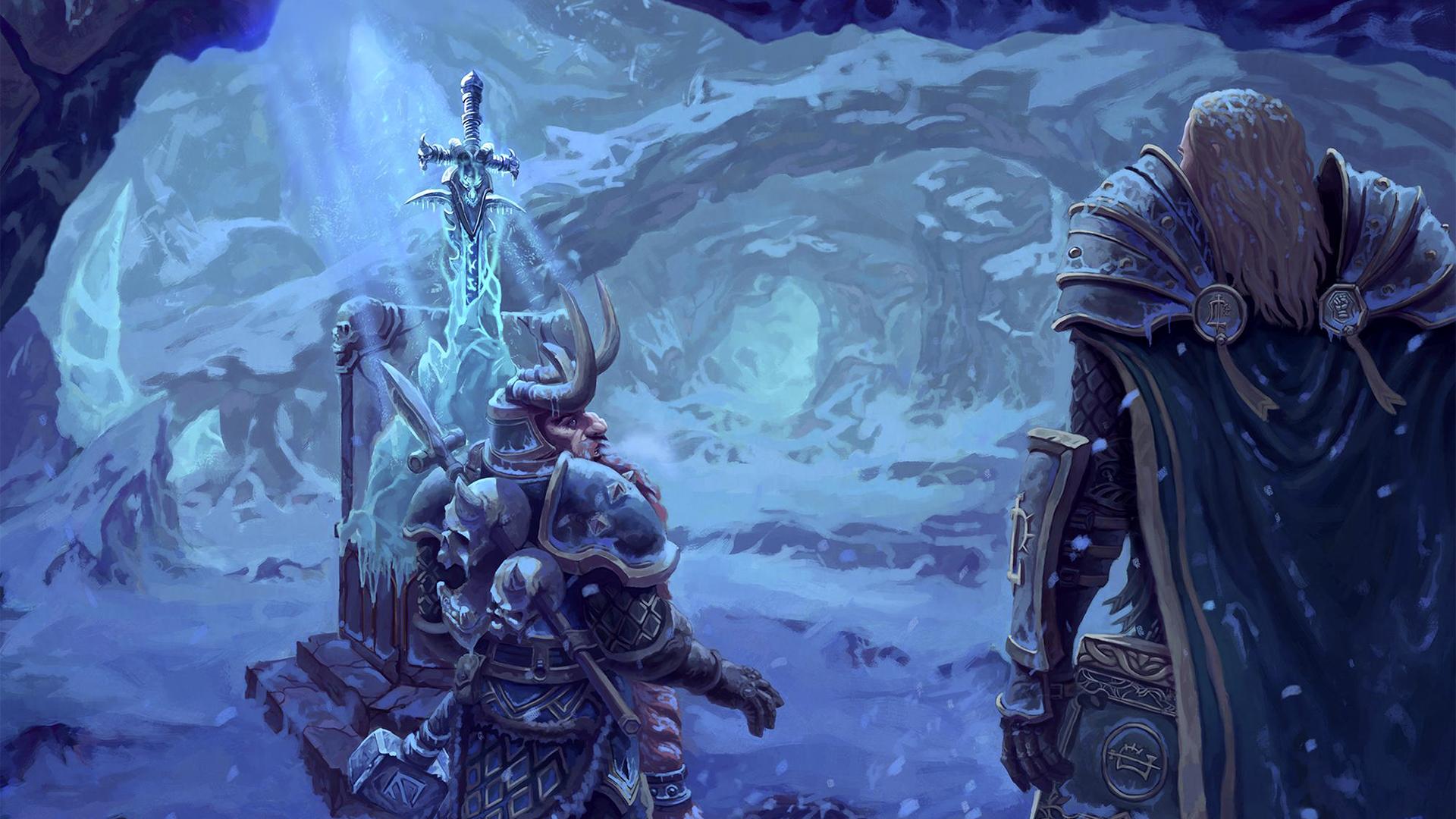 Wallpaper Arthas Muradin Lich King Frostmourne World Of
