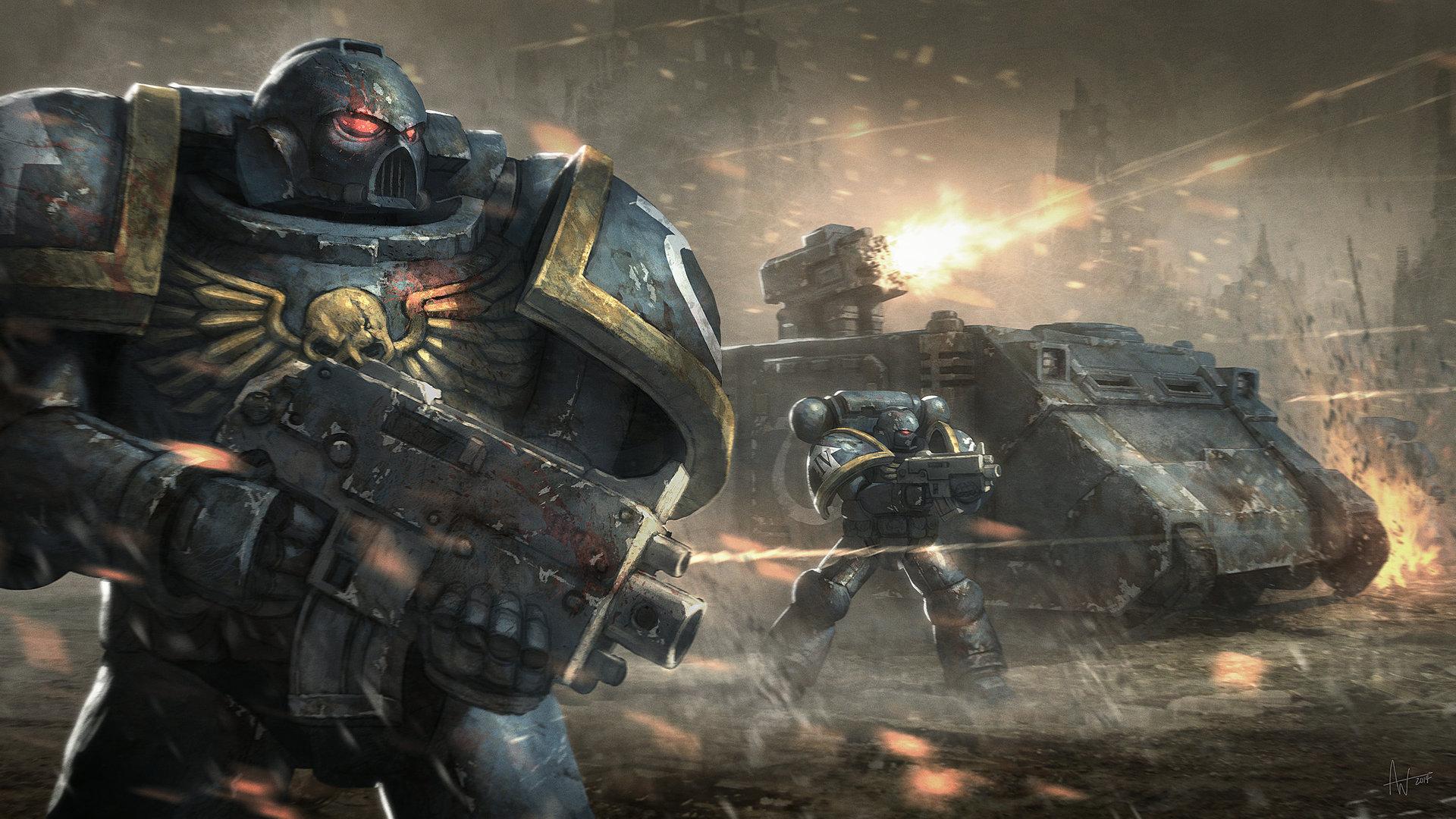 Wallpaper Warhammer 40 000 Space Marines 40k Tank