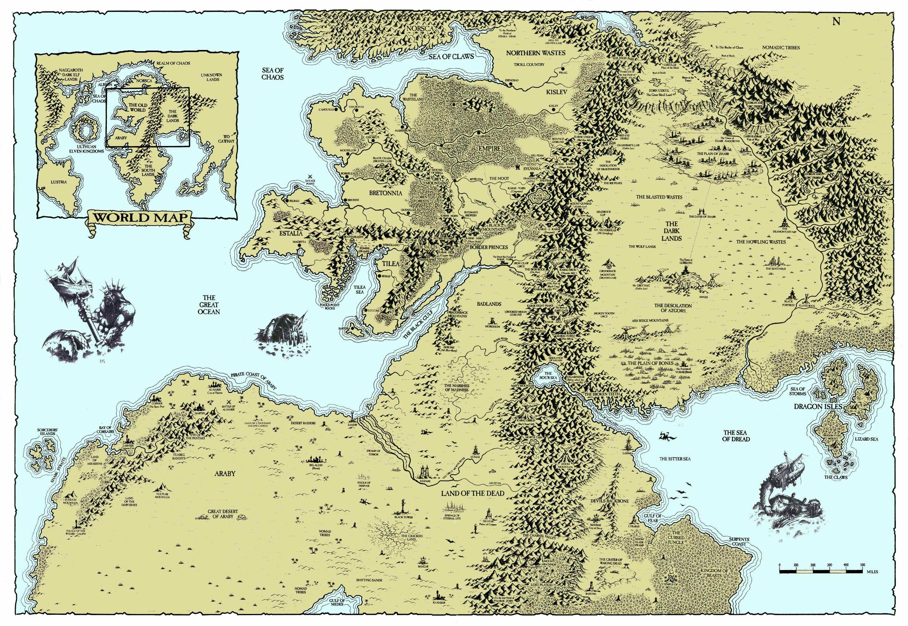 Hintergrundbilder Warhammer Karte Old World 3016x2080