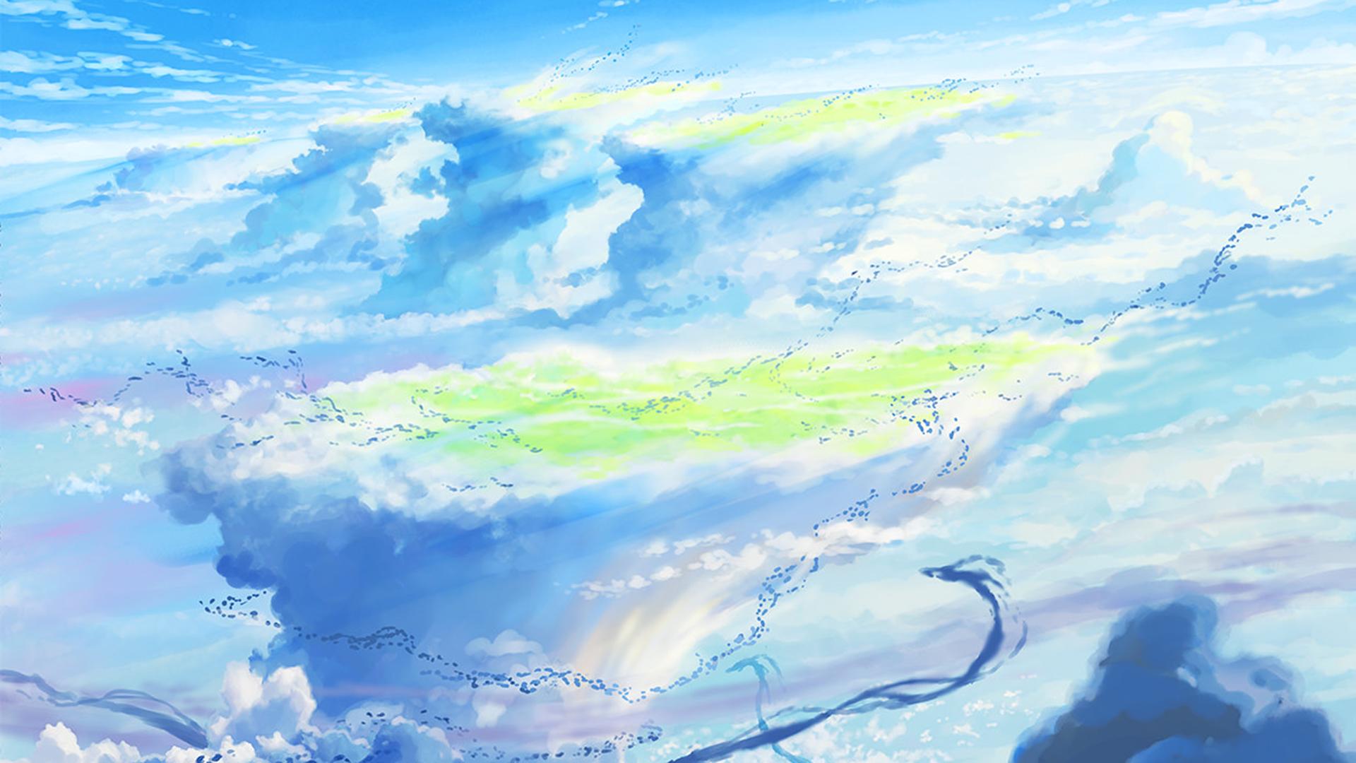 Wallpaper Weathering With You Makoto Shinkai Anime Blue Sky Clouds 1920x1080 Simplymemes 1531725 Hd Wallpapers Wallhere