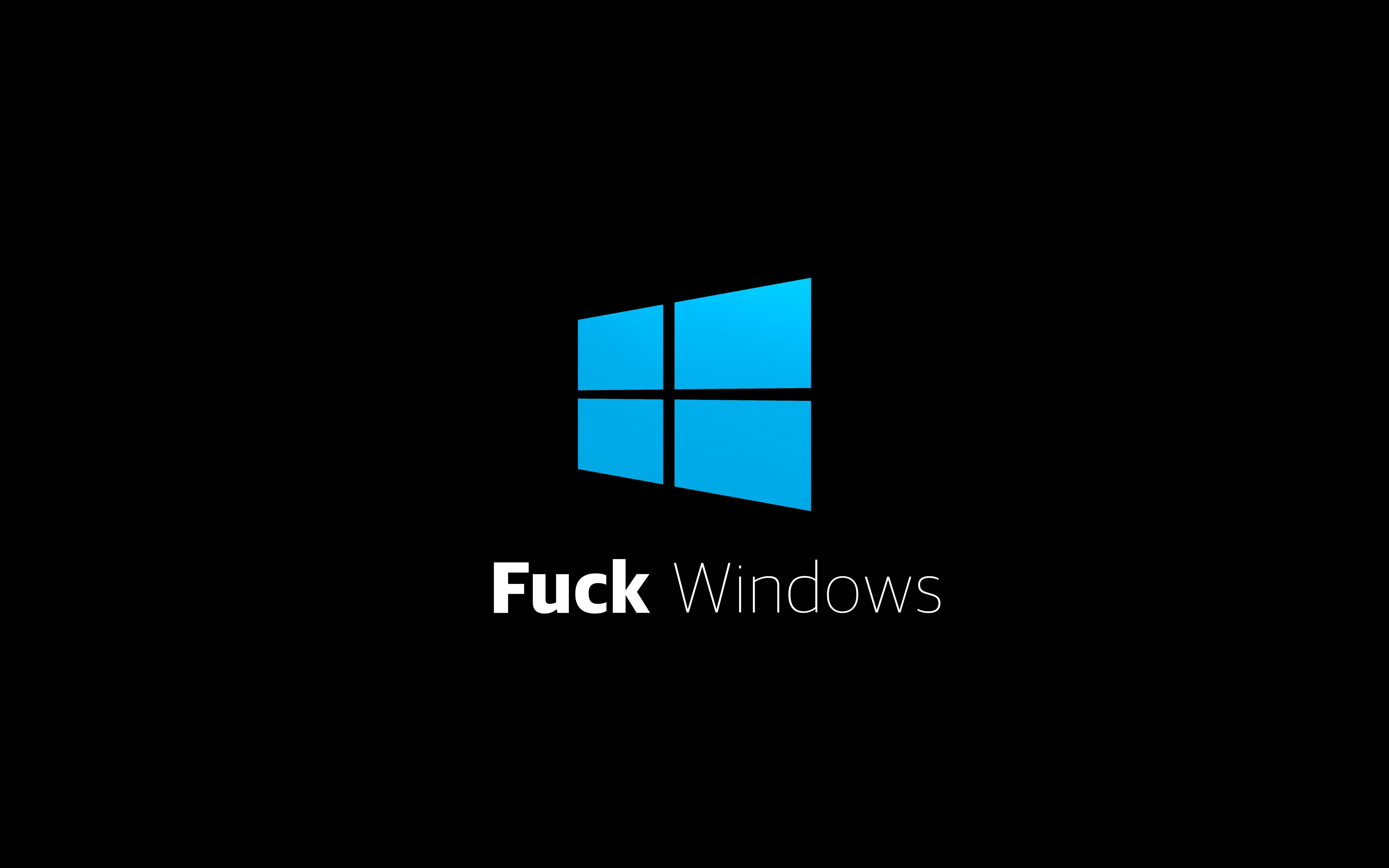 Wallpaper Windows 10 Microsoft Fuck 5120x3200