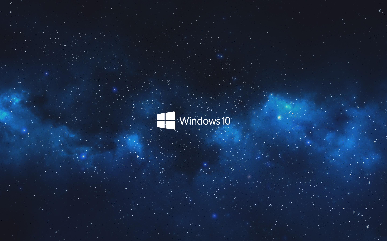 Wallpaper Windows 10 Blue Sky Galaxy Space 2880x1800