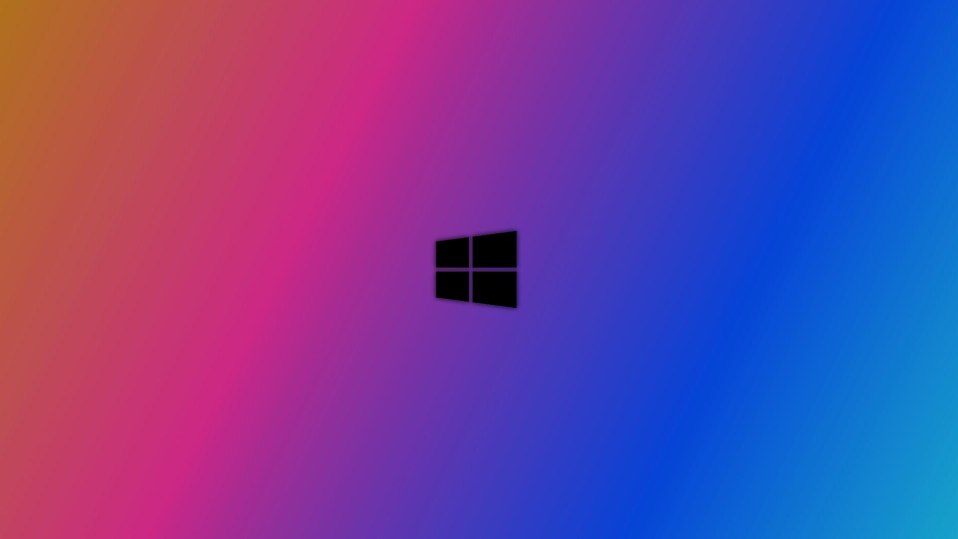 Wallpaper Windows 10 Blurred Designer Colorful