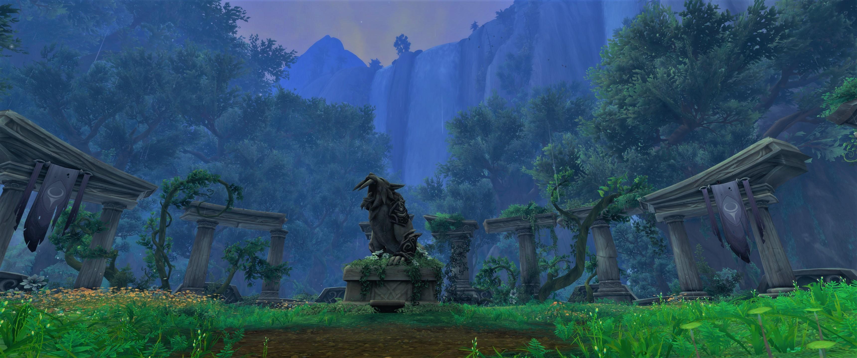 Wallpaper World Of Warcraft Legion 3440x1440 Anairae