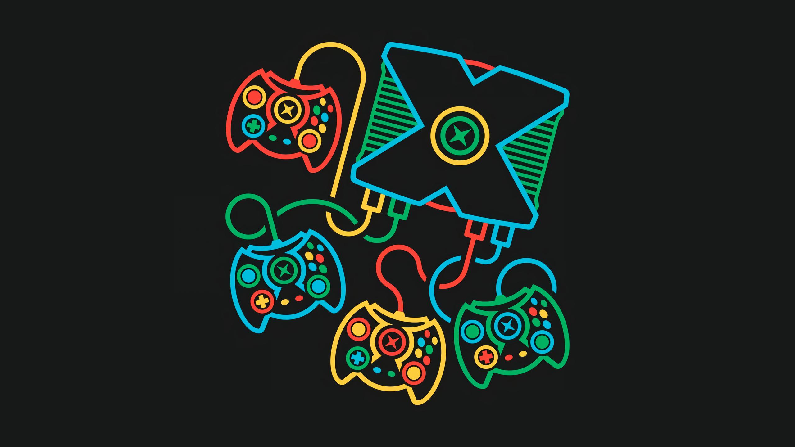 Xbox retro games minimalism black background 1807861