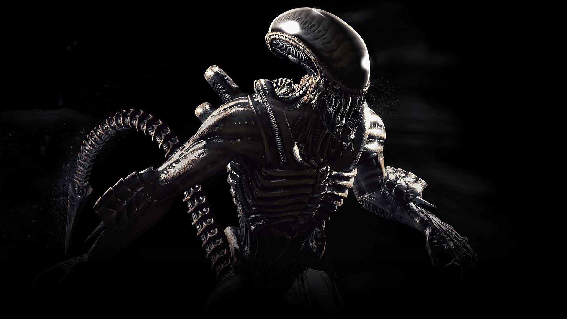 Wallpaper Xenomorph Mortal Kombat X Alien Movie 1920x1080
