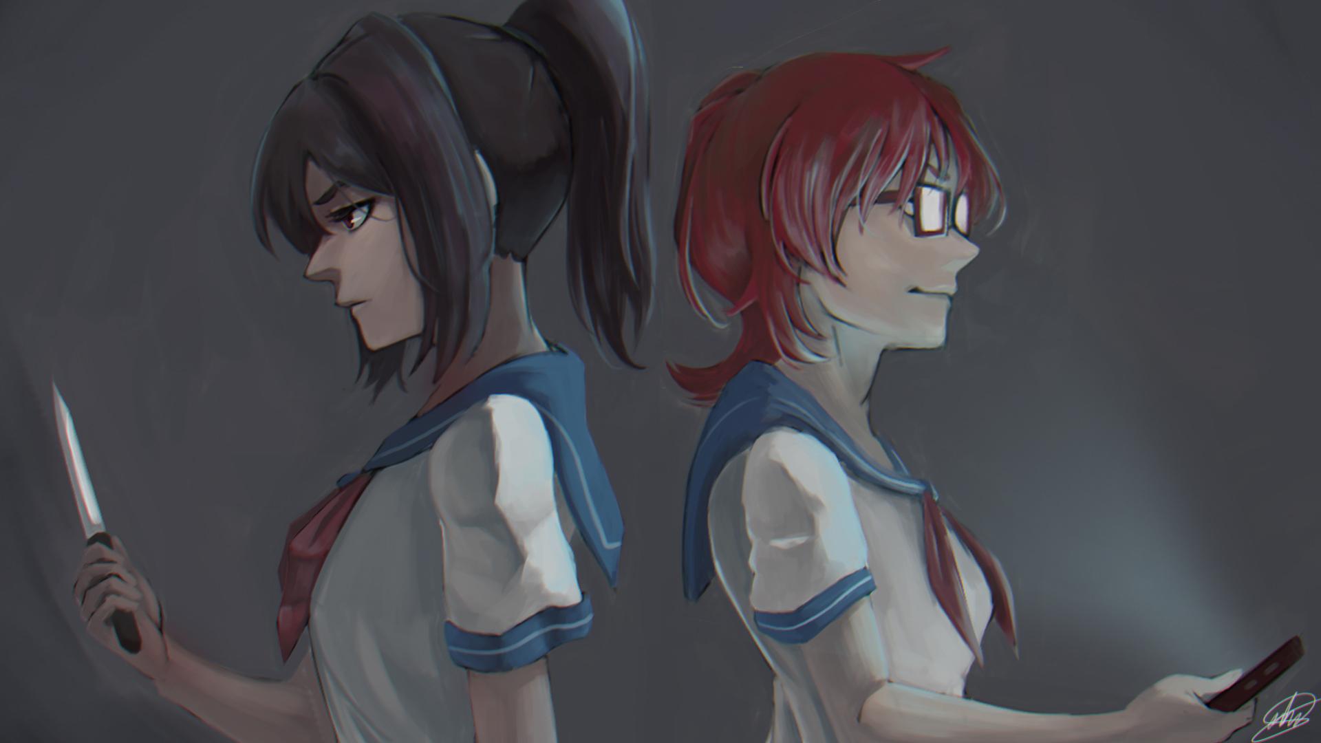 Wallpaper : Yandere Simulator, Ayano Aishi, Info chan, sailor