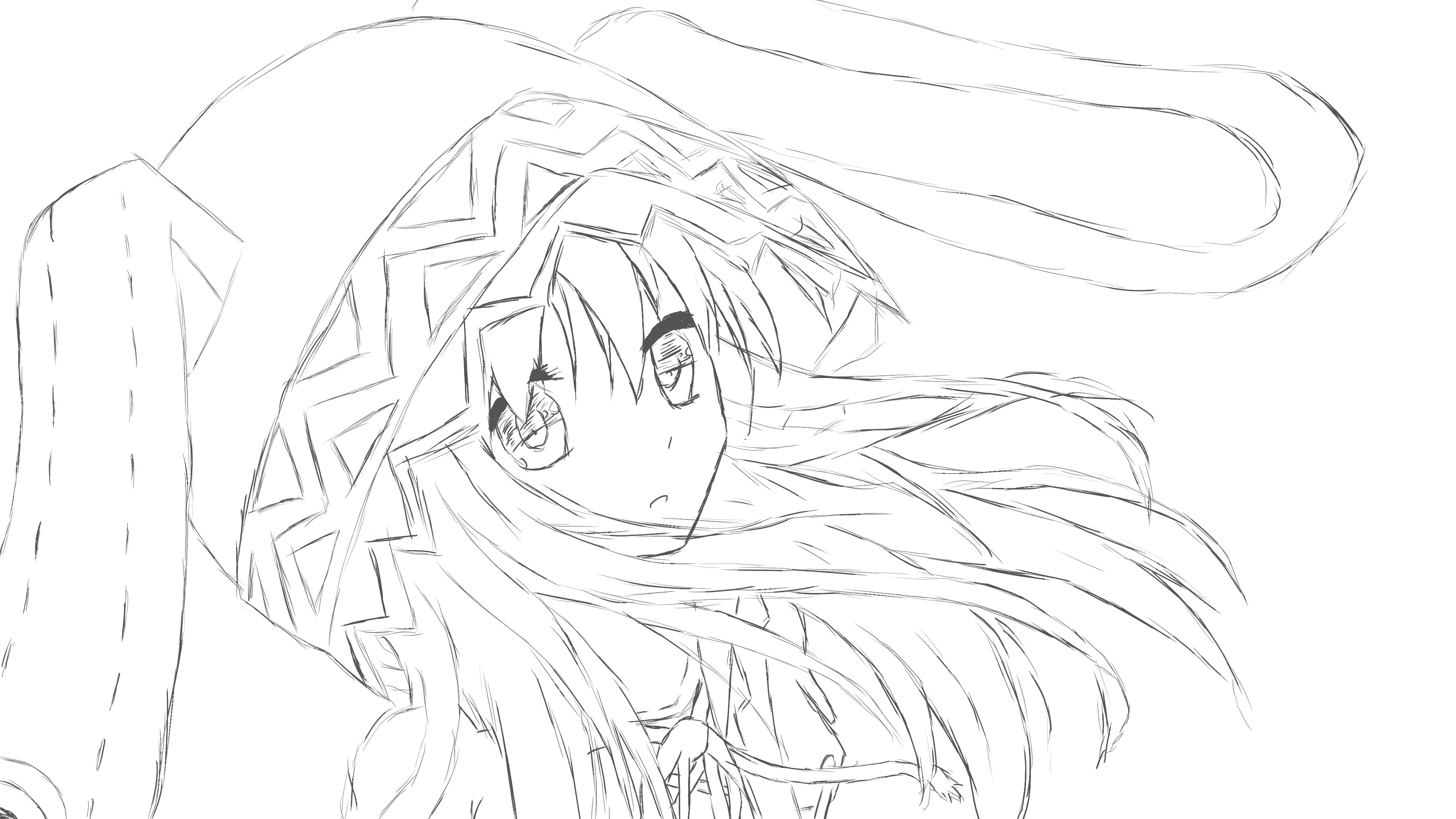 Wallpaper Yoshino Date A Live Yoshinon Manga Sketch