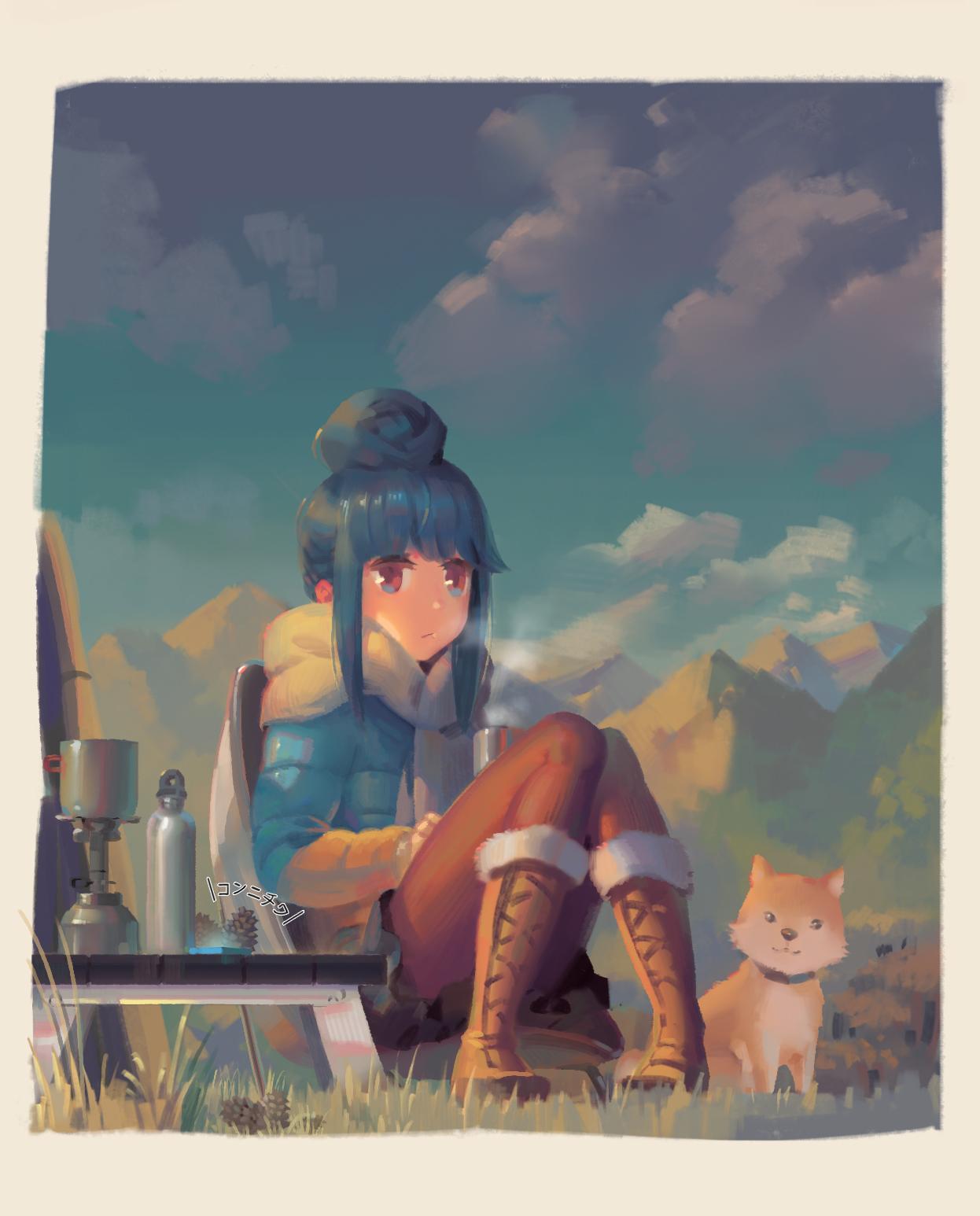 Wallpaper Yuru Camp Anime Girls Rin Shima 1246x1546 Carlosg97 1399683 Hd Wallpapers Wallhere