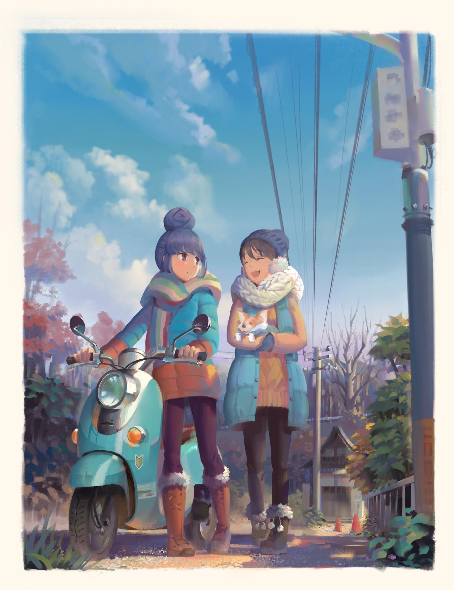 Wallpaper Yuru Camp Anime Girls Rin Shima Ena Saitou 1457x1895 Gamehater 1399657 Hd Wallpapers Wallhere