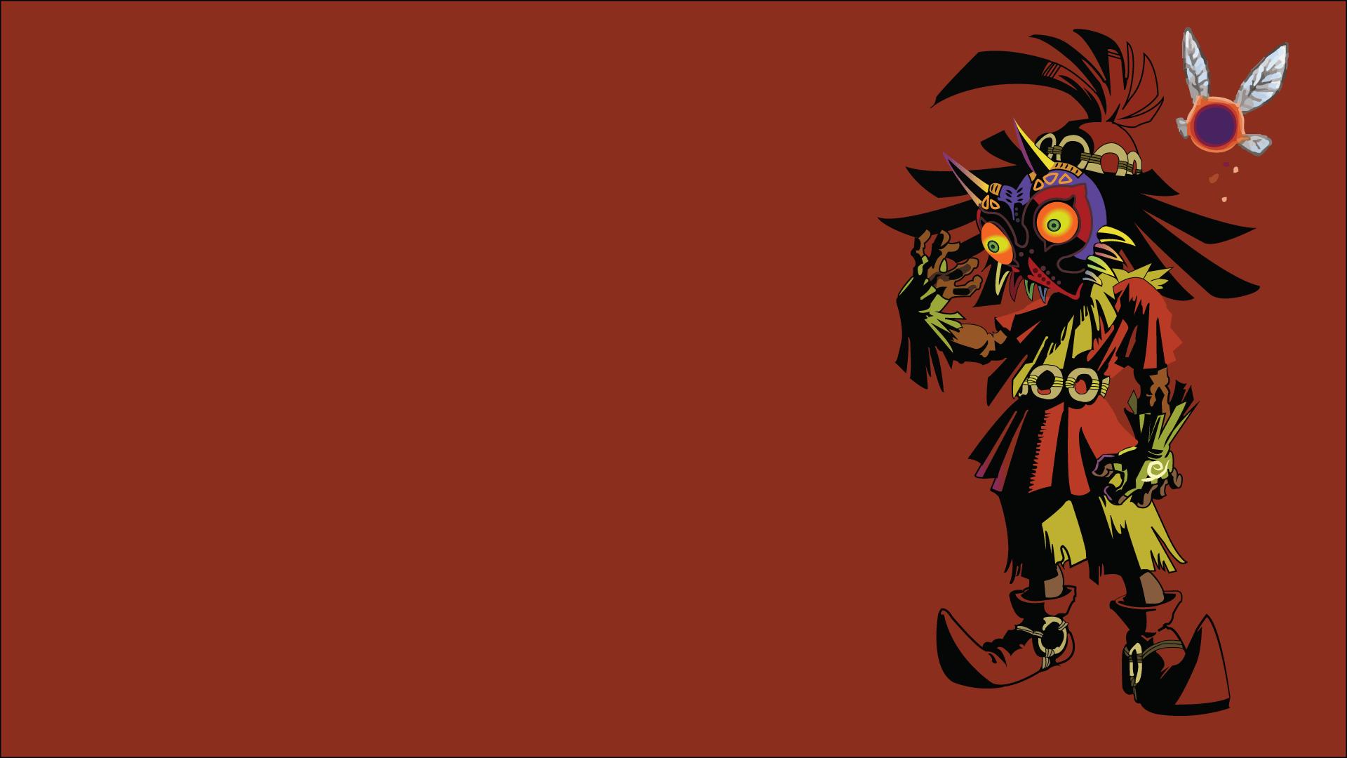 Zelda The Legend Of Red Background Video Games Majoras Mask Skull