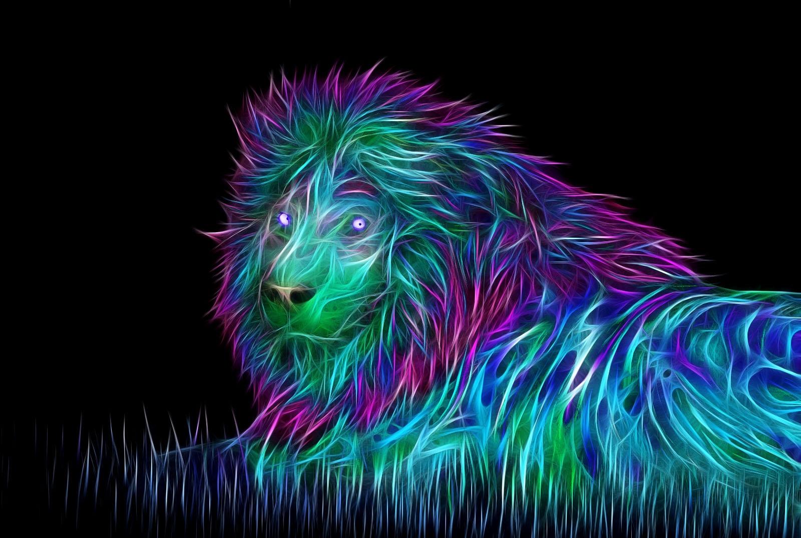 wallpaper : abstract, 3d, art, lion 1600x1075 - wallhaven - 1030626