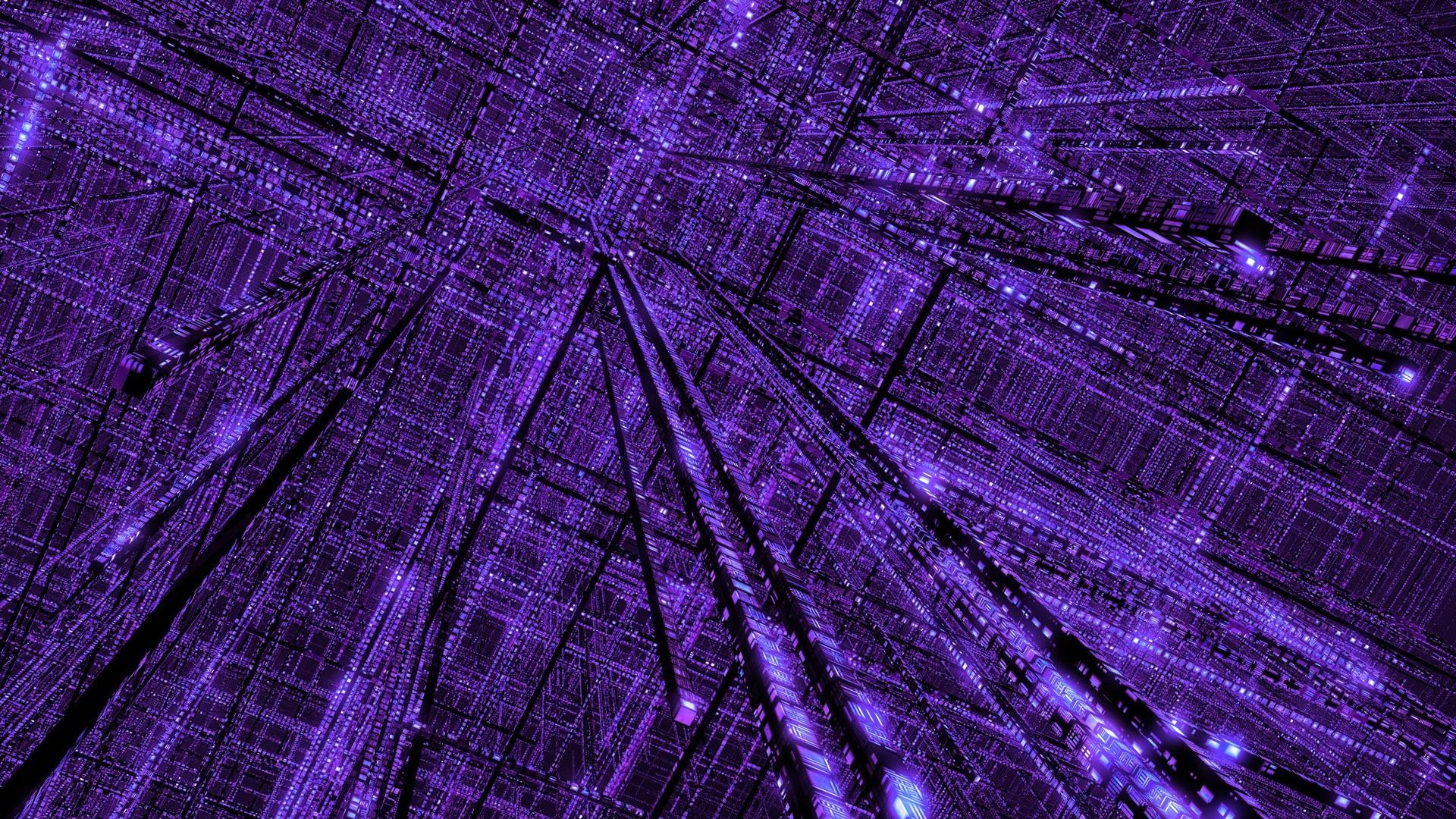 Fondos De Pantalla Abstracto 3d Espacio Cielo Púrpura