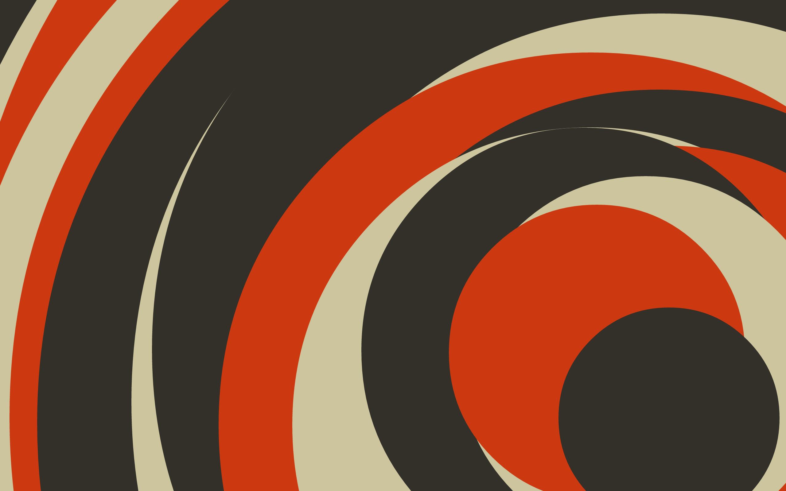 Abstract Artwork Digital Art Minimalism Simple Brown Orange Geometry Circle