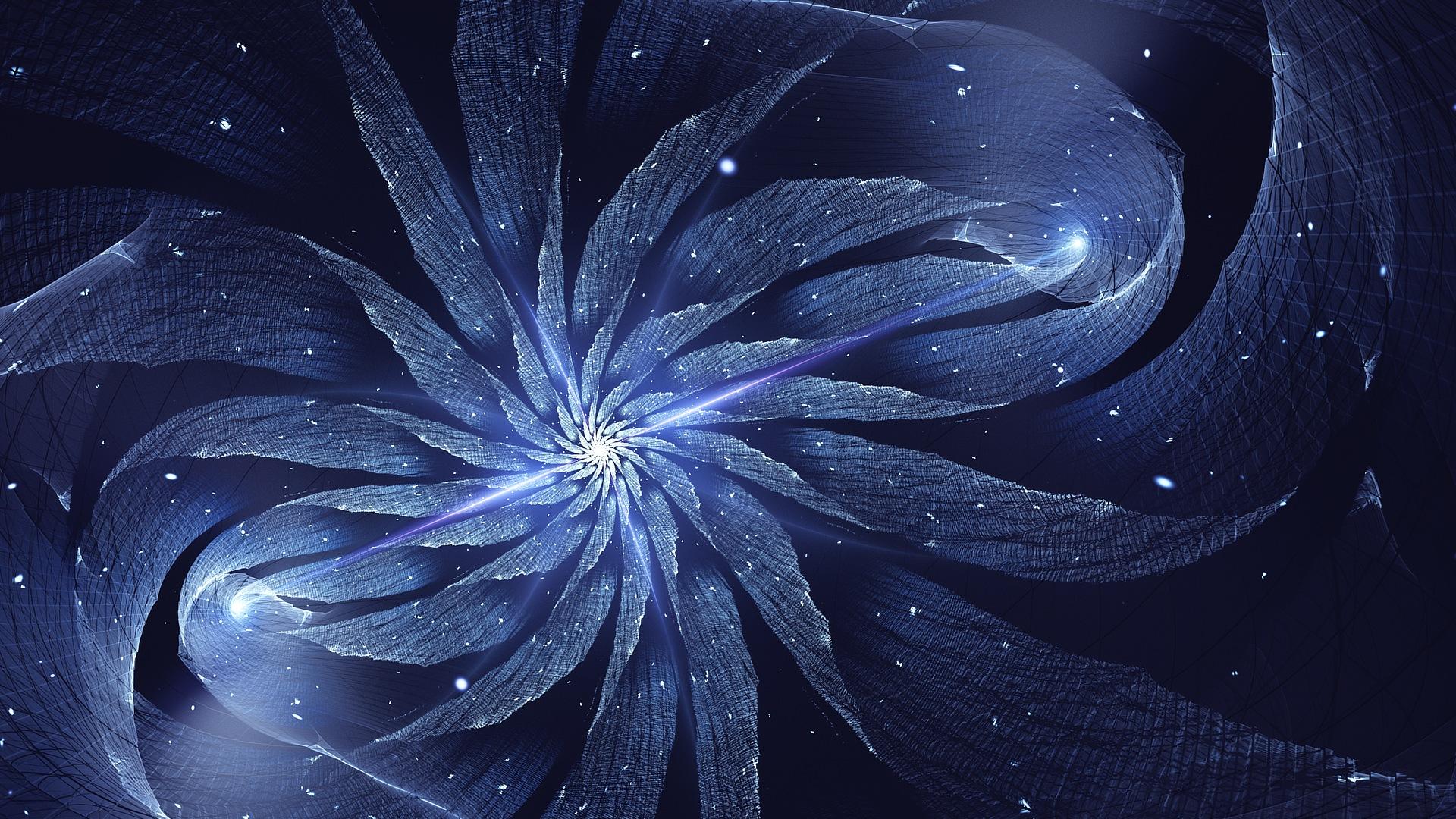 Wallpaper Abstract Flower Fractal Rotation 1920x1080