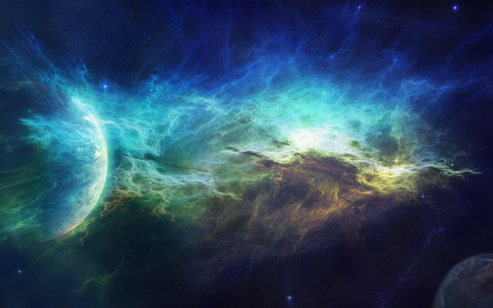 Wallpaper Abstract Galaxy Planet Sky Earth Nebula Universe