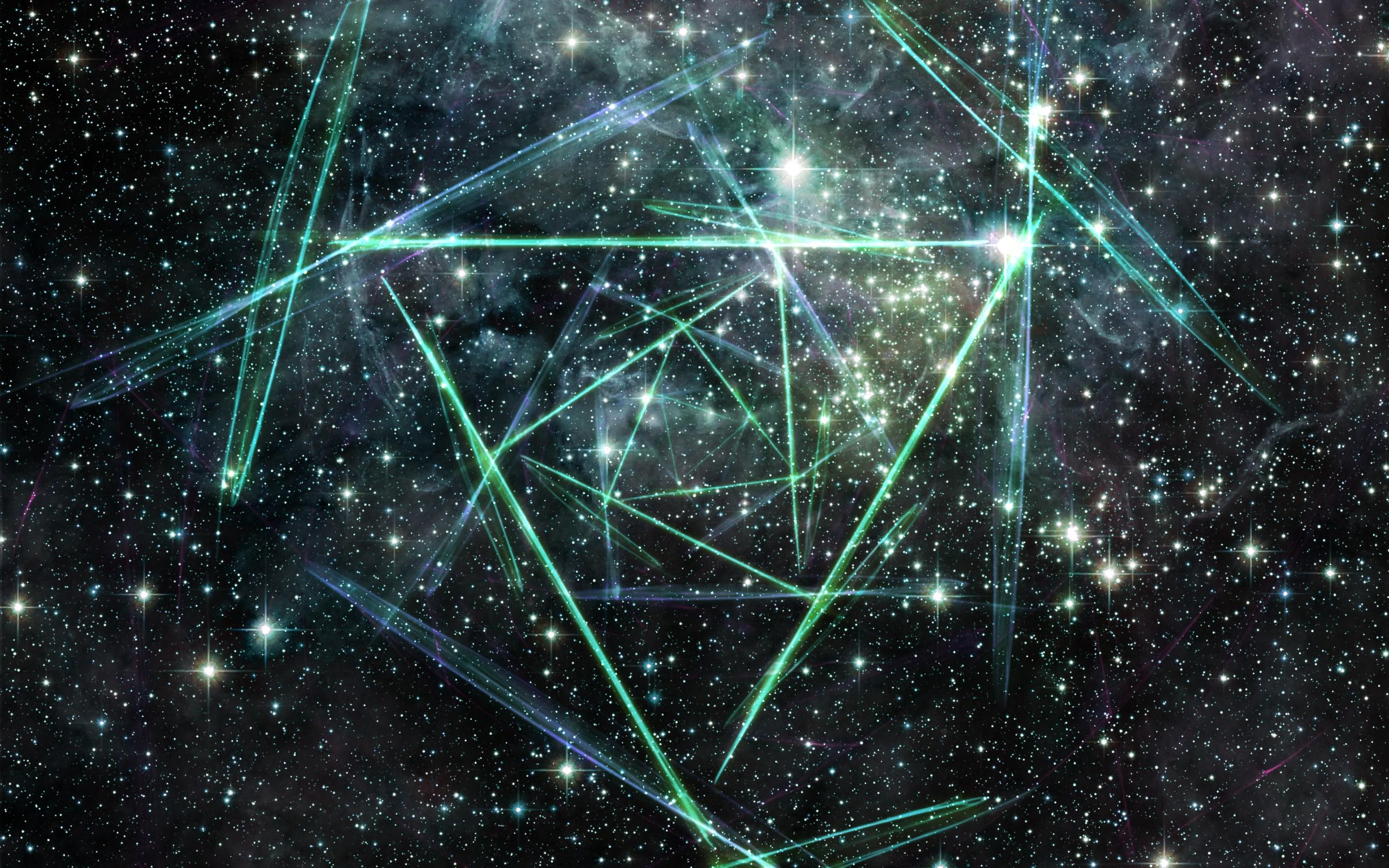 Sfondi Astratto Galassia Spazio Cielo Stelle Verde Nebulosa