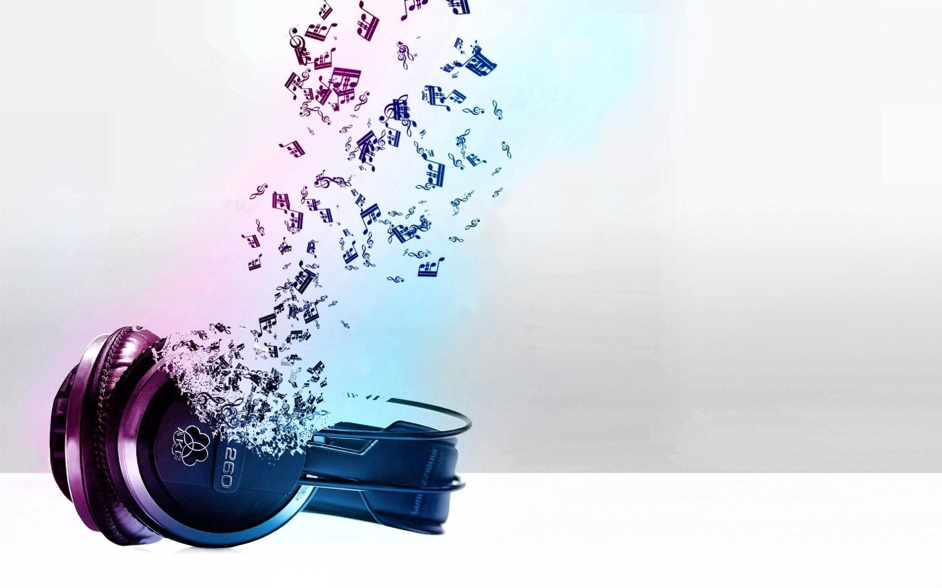 デスクトップ壁紙 抽象 紫の バイオレット ヘッドフォン