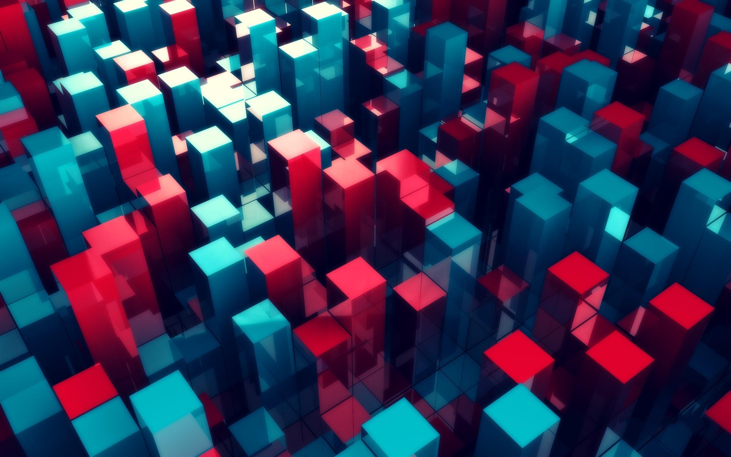 Абстрактные картинки с кубиками