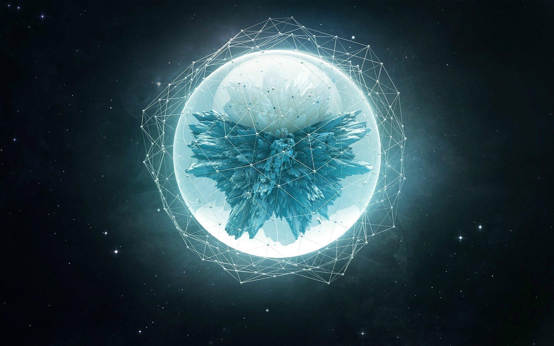 Wallpaper Abstract Earth Nebula Circle Star Trails