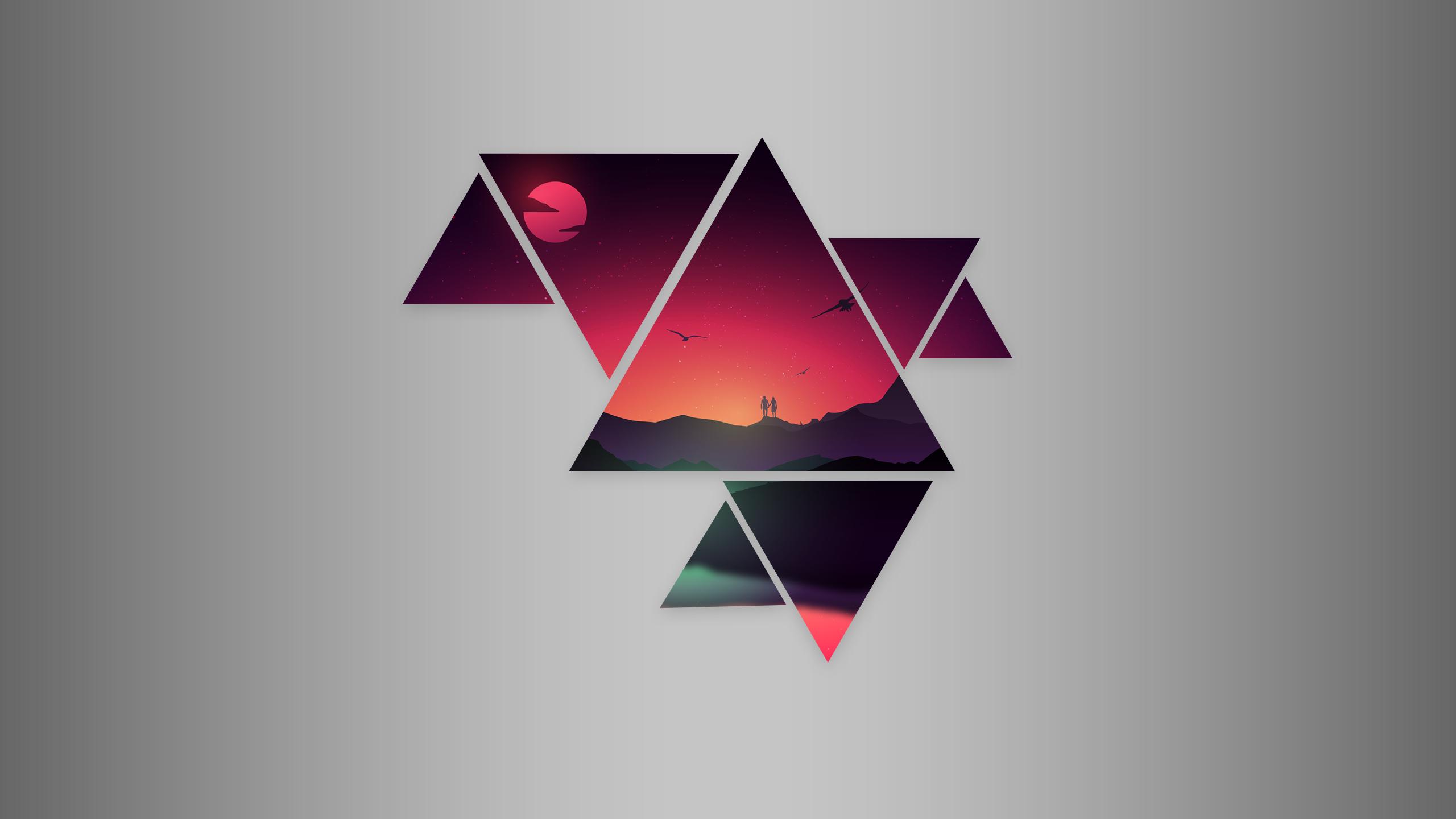 красивые картинки в треугольниках веселья позитива