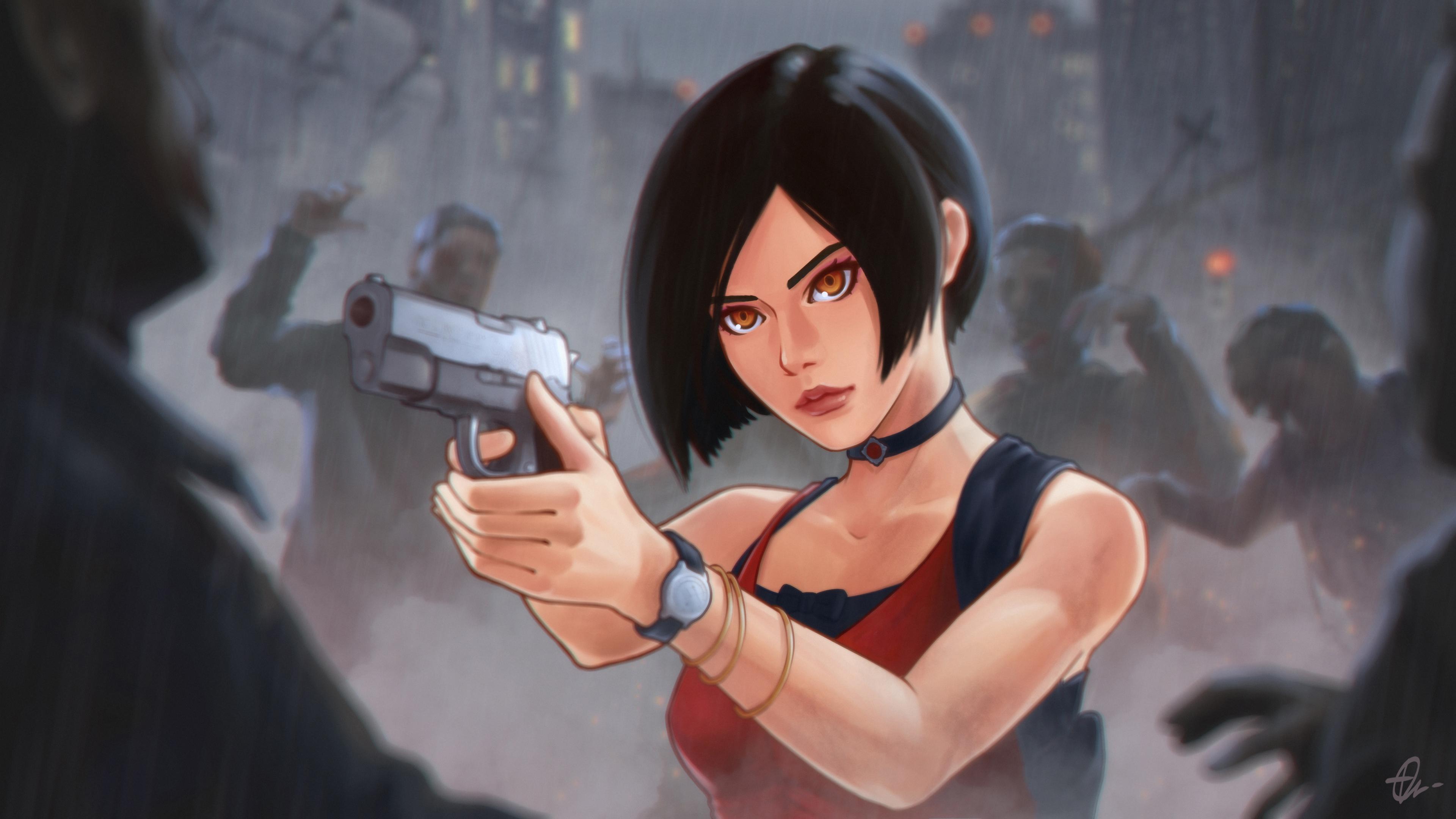 Wallpaper Ada Wong Resident Evil 2 Remake Resident Evil 2