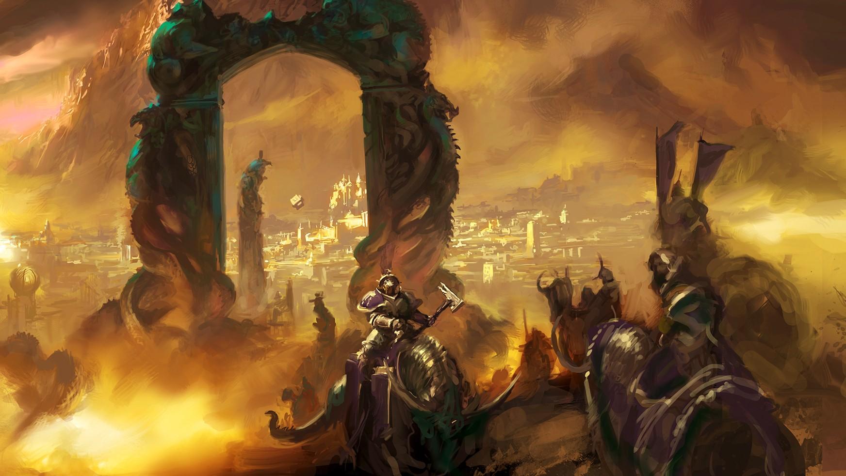 Wallpaper Age Of Sigmar Warhammer Malign Portents Fantasy Art