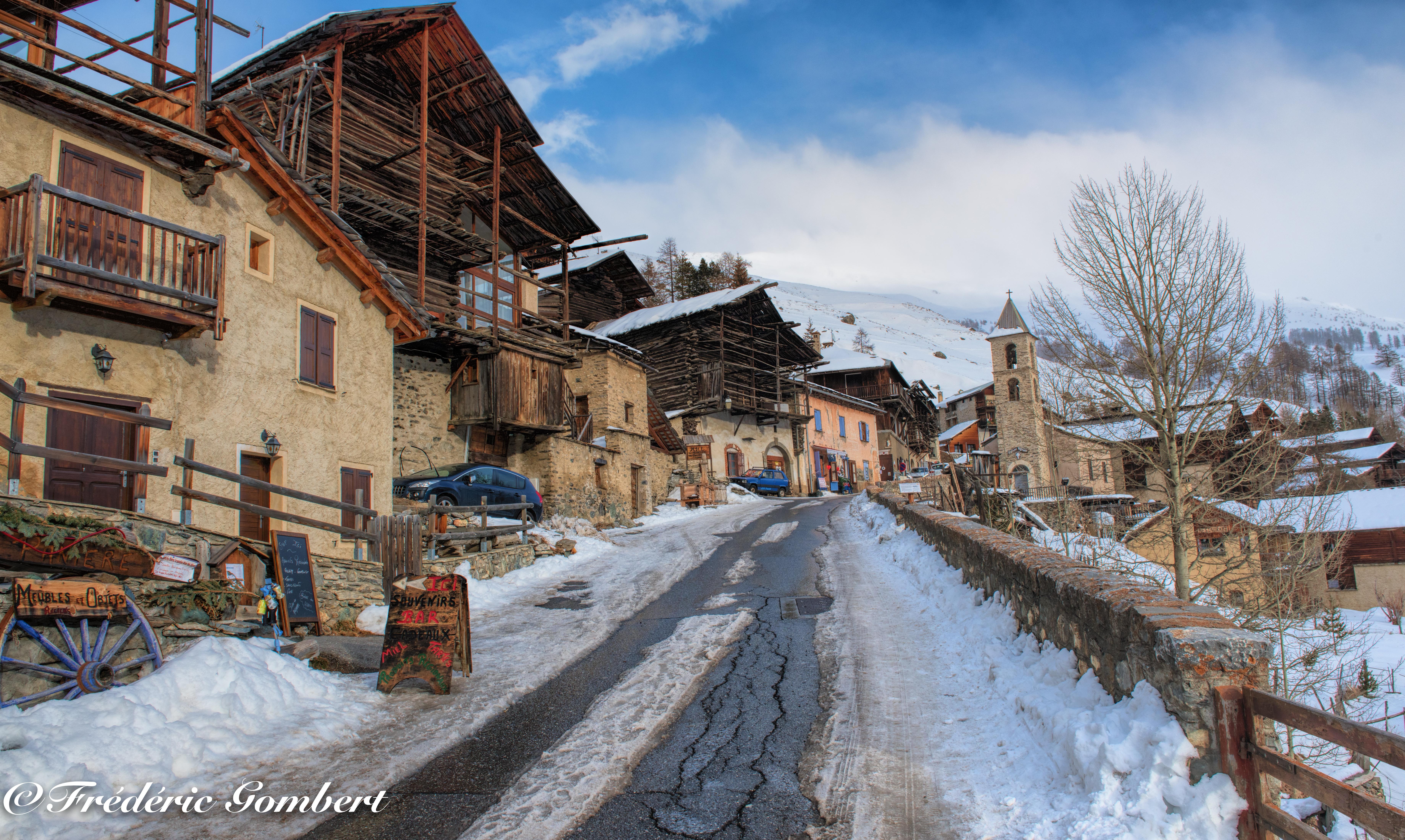 Wallpaper Alp Alpes City Cityscape Snow Street Old Images, Photos, Reviews