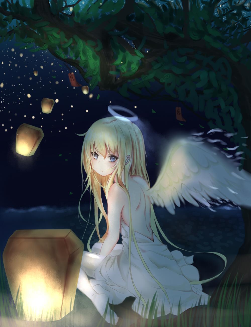 Wallpaper Angel Night Anime Girls Gabriel Dropout Gabriel White Tenma Fan Art 1000x1300 Delta 1249939 Hd Wallpapers Wallhere