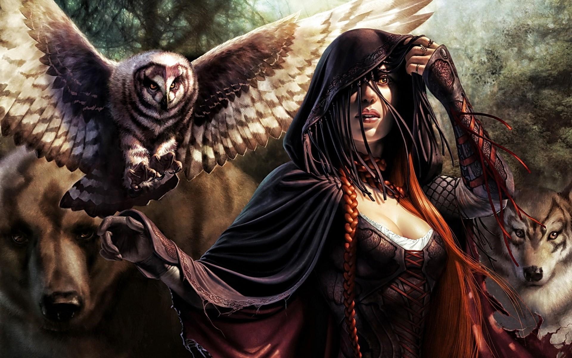 Fantasy Art Wolf Woman