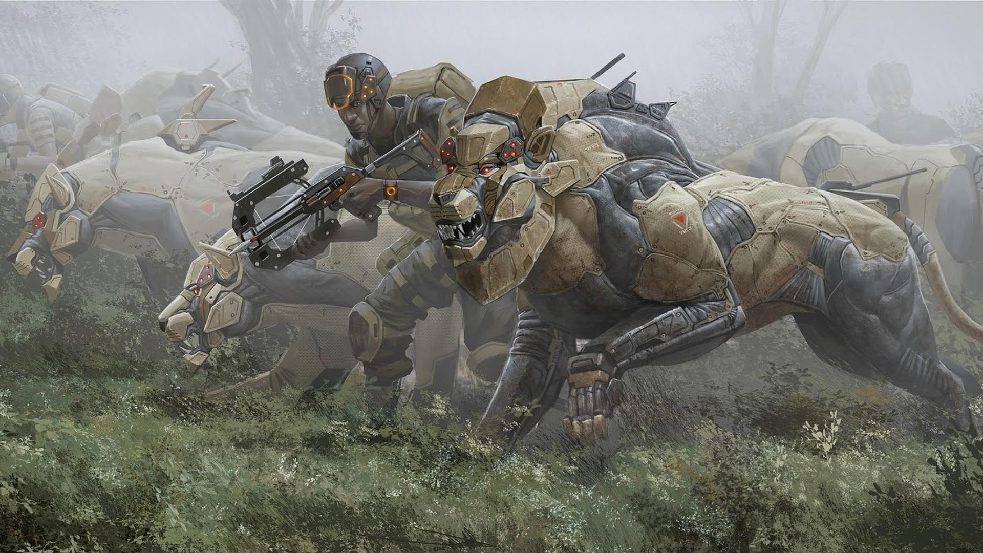 Deviantart Robot Animals: Wallpaper : Animals, Robot, Soldier, Science Fiction