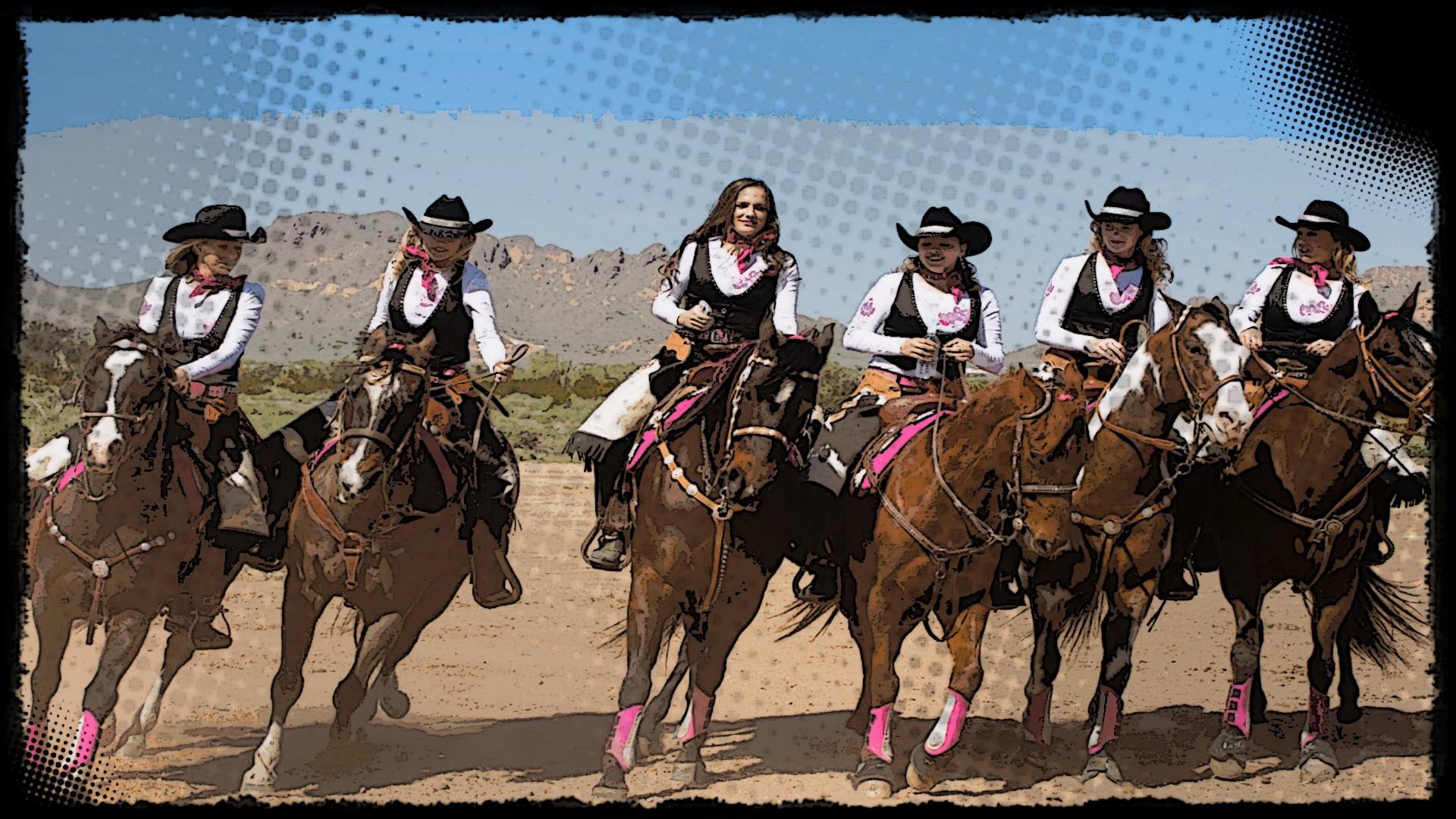 Sfondi donne cavallo cartone animato fantino pop art