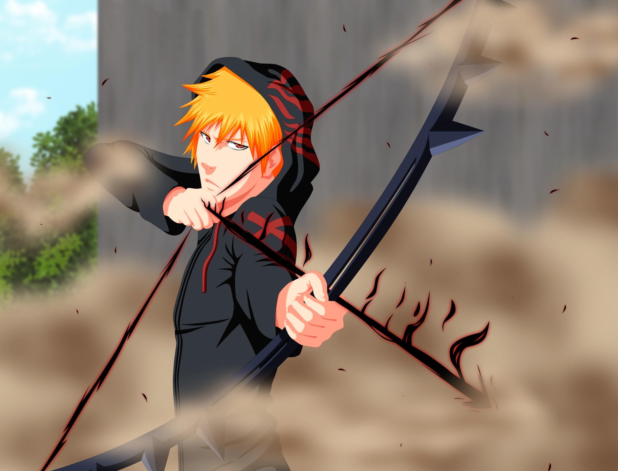 Anime Bleach Kurosaki Ichigo Shinigami Boy Screenshot Quincy Tensa Zangetsu