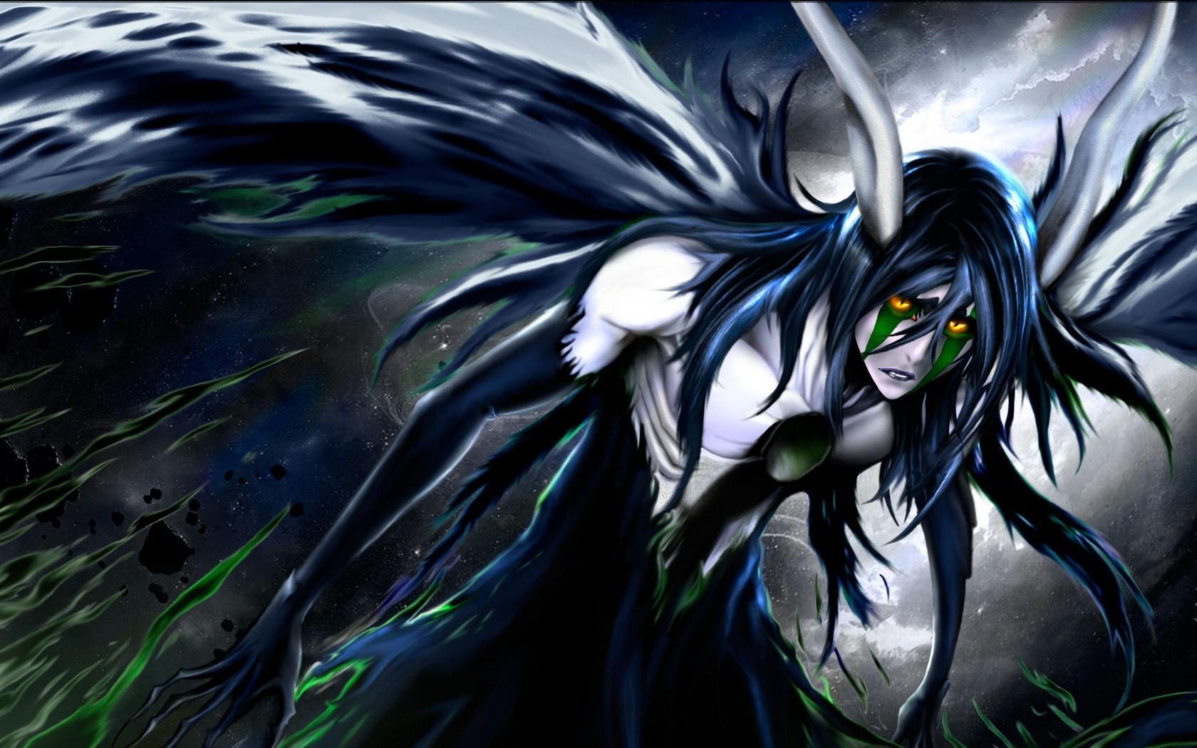 Wallpaper : anime, Bleach, Ulquiorra Cifer, Espada, wing ...