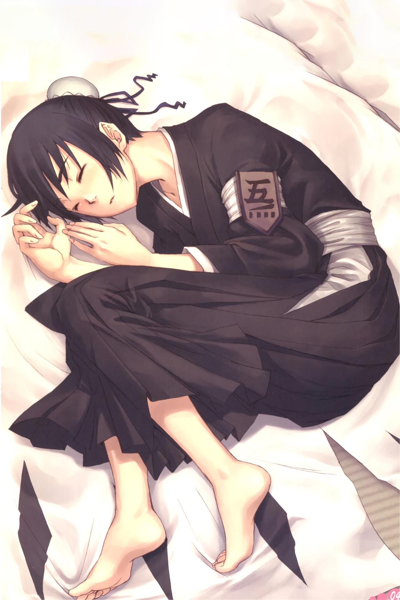 Wallpaper Anime Bleach Sleeping Hinamori Momo 1280x1920
