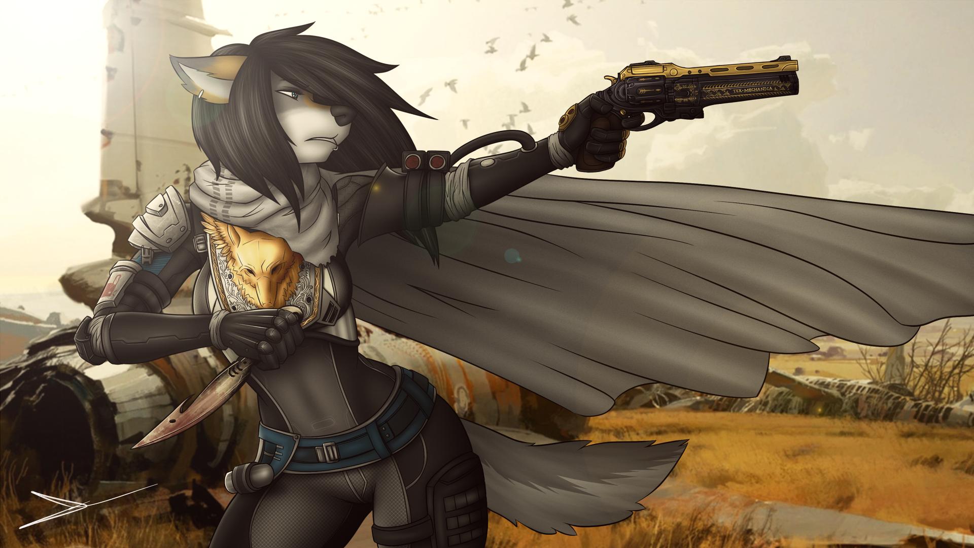 Wallpaper  Anime, Destiny Video Game, Furry, Anthro, Fantasy Weapon, Mythology -3356