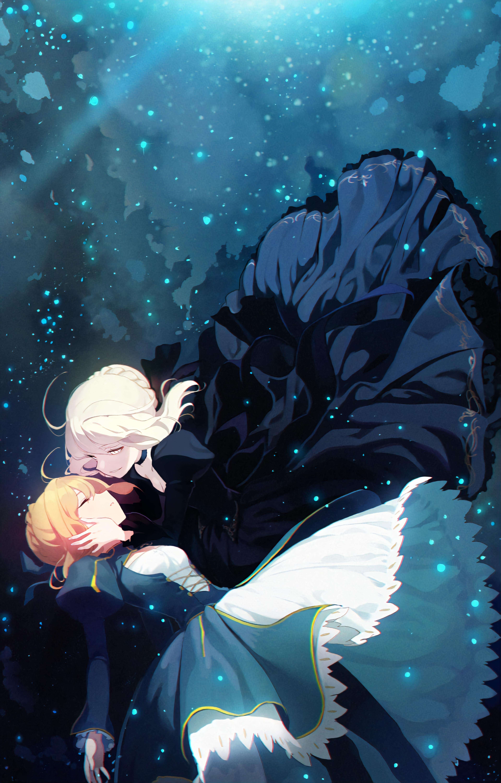 Wallpaper Anime Fate Stay Night Saber Alter Artoria Pendragon Water Underwater Particle Dress 3840x6000 D4ni3lgonzalez 1588009 Hd Wallpapers Wallhere