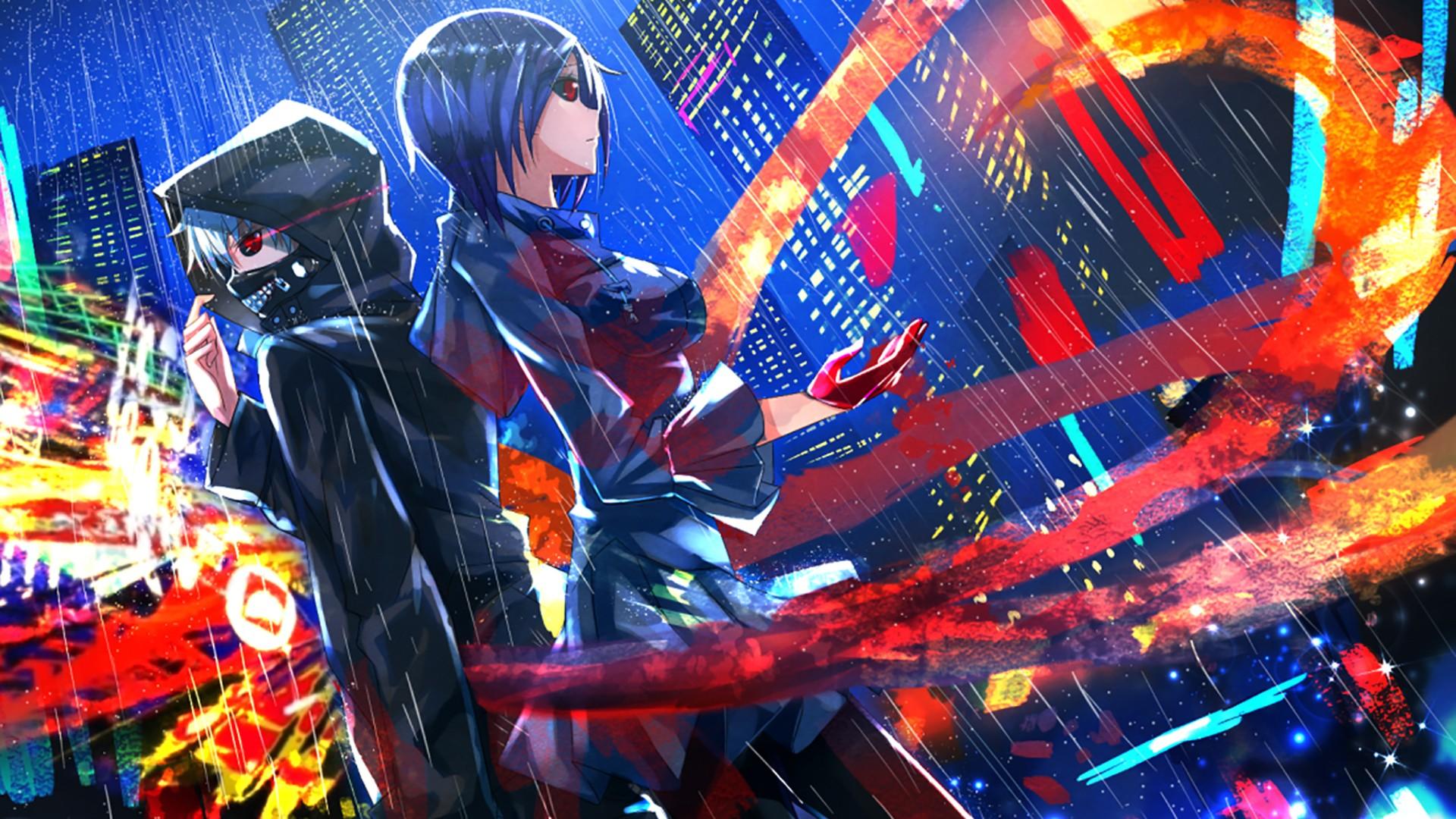 Wallpaper : anime, Kaneki Ken, Tokyo Ghoul, Kirishima Touka