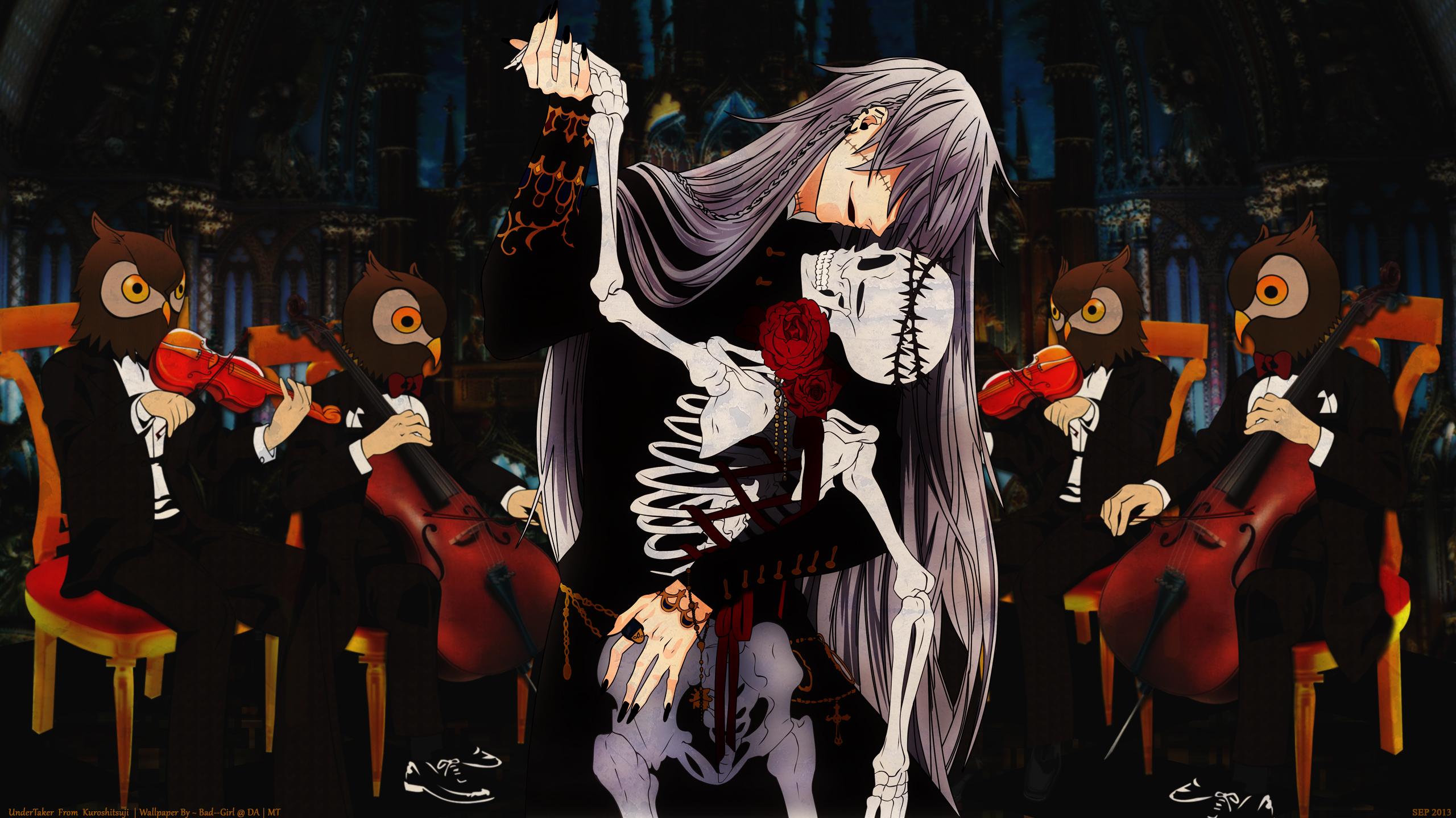 Anime Kuroshitsuji Black Butler Under Taker Musical Theatre Performance Art